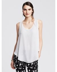 Banana Republic | White Layer-back Tank | Lyst