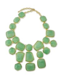 Kenneth Jay Lane | Green Jade Bib Necklace | Lyst