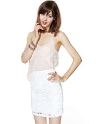 Nasty Gal - White Snow Days Sequin Skirt - Lyst