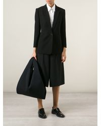 MM6 by Maison Martin Margiela | Black Perforated Cotton Bucket Tote | Lyst