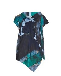 Vivienne Westwood Anglomania | Green Cave Union Jack-print Top | Lyst