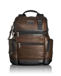 Tumi | Brown 'bravo - Knox' Leather Backpack for Men | Lyst