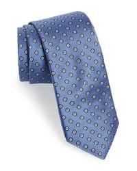 Michael Kors - Blue 'stop Sign' Dot Silk Tie for Men - Lyst