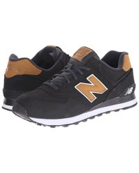 New Balance | Black 574 - Lux for Men | Lyst
