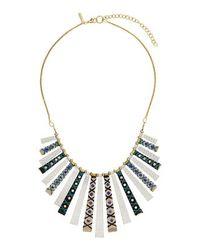 TOPSHOP - Blue Wrap Stick Necklace - Lyst
