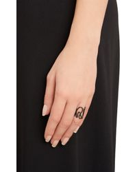 Repossi - Gray Black Gold White Noise Ring - Lyst