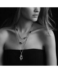 David Yurman - Green Cable Wrap Pendant Diamonds - Lyst