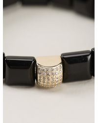 Luis Morais - Black Square Beaded Bracelet - Lyst