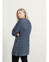 Violeta by Mango | Gray Long Knit Sweater | Lyst