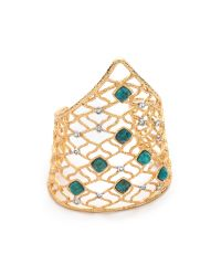 Alexis Bittar - Green Mosaic Lace Cuff Bracelet - Lyst