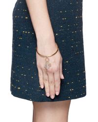 Chloé - Metallic 'harlow' Mix Charm Brass Bangle - Lyst