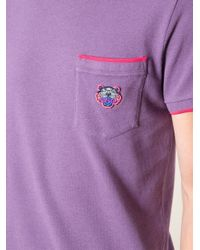 KENZO - Purple Chest Pocket Tshirt for Men - Lyst