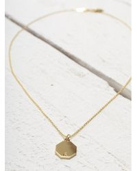 Lily Kamper | Metallic Gold Hexagon Disc Pendant | Lyst