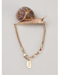 Vivienne Westwood - Brown Snail Bracelet - Lyst