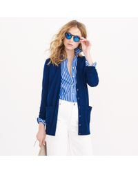 J.Crew - Blue Classic Merino Wool Long Cardigan Sweater - Lyst