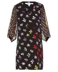 Diane von Furstenberg | Multicolor Carlton Silk-Chiffon Dress | Lyst