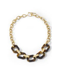 Ralph Lauren | Black Faux-tortoise Link Necklace | Lyst