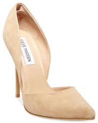Steve Madden | Natural Women's Varcityy Two-piece Pumps | Lyst