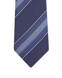Gucci - Blue Striped Silk-twill Tie for Men - Lyst