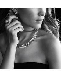 David Yurman - Infinity Earrings With Hampton Blue Topaz - Lyst