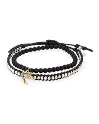 Tai | Black Set Of Two Bracelets | Lyst