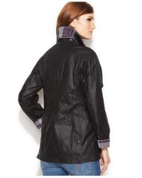 Barbour - Black Beadnell Waxed Anorak Jacket - Lyst