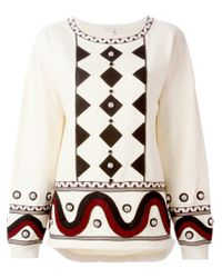 Olympia Le-Tan - Natural Embellished Sweatshirt - Lyst
