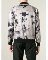 Iceberg - Black Tie Dye Print Bomber Jacket for Men - Lyst