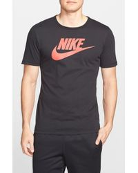 Nike | Black Tee-Futura Icon Graphic T-Shirt for Men | Lyst
