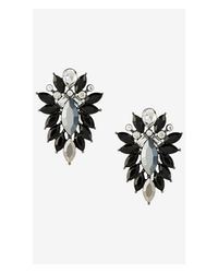 Express | Black Stone Cluster Earrings | Lyst