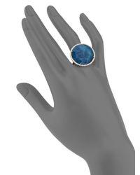 Meira T | Blue Apatite, White Topaz, Diamond & 14k Yellow Gold Cocktail Ring | Lyst