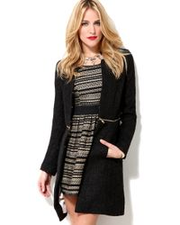 Glamorous | Black Glamourous Mid Zip Tweed Jacket | Lyst