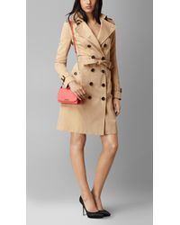 Burberry - Pink Signature Small Grained-Leather Clutch - Lyst