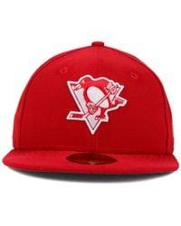 KTZ | Red Pittsburgh Penguins C-dub 59fifty Cap for Men | Lyst