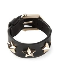 Givenchy - Black Star Embossed Bracelet - Lyst