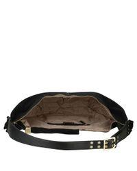 Nine West - Black Britt Leather Or Suede Hobo Bag - Lyst