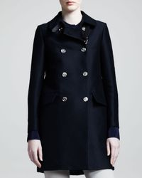 Belstaff - Blue Abberly Double Breasted Coat - Lyst