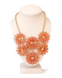 Forever 21 - Orange Garden Goddess Floral Bib Necklace - Lyst