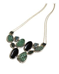 Melissa Joy Manning | Green Uvarovite Garnet And Wavelite Collar Necklace | Lyst