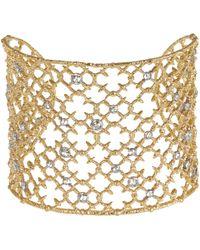 Alexis Bittar - Metallic Gold-tone Crystal Stud Lace Cuff - Lyst