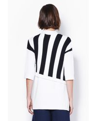 3.1 Phillip Lim - Black Shortsleeve Pullover With Contrast Stripe - Lyst