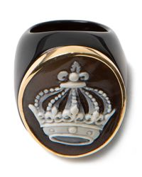Amedeo | Black Crown Cameo Ring | Lyst