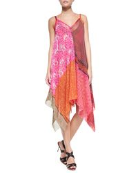 Jean Paul Gaultier - Multicolor Patchwork-Print Tie-Waist Swimsuit - Lyst