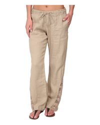 La Blanca - Natural Linen Pants Cover-Up - Lyst