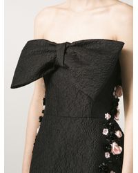 Giambattista Valli - Black Strapless Bow Dress - Lyst