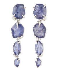 Alexis Bittar Fine - Purple Iolite Drop Earrings with Diamonds - Lyst