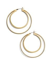 Trina Turk | Metallic Medium Double Hoop Earrings | Lyst