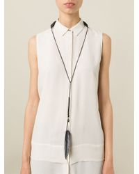 Ann Demeulemeester | Black Feather Necklace | Lyst