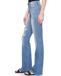 Joe's Jeans - Blue High Rise Flare Jeans - Gretchen - Lyst