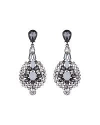Mikey - Black Fillagary Hanging Crystal Earring - Lyst